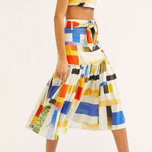 Free People Addicted To You Skirt NWT Printed
